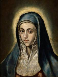 El Greco, La Virgen María. 1597