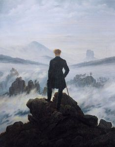 Caspar David Friedrich, Der Wanderer über dem Nebelmeer. 1818.