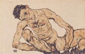 Egon Schiele, Autorretrato, 1910