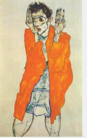 Egon Schiele Autorretrato, 1911 naranja