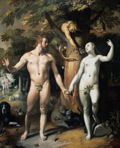 Cornelis van Haarlem. The fall of man. 1592.