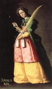 Santa Apolonia,Francisco de Zurbarán. h.1614