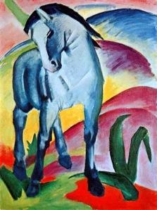 Franz Marc, Blaues pferd. 1911.