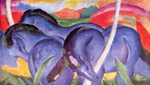 Franz Marc, Caballos azules. 1911.