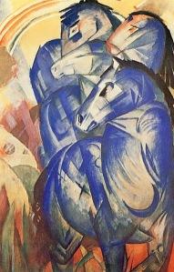 Franz Marc, La torre de caballos azules. 1913.
