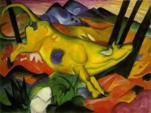 Franz Marc, La vaca amarilla. 1911.