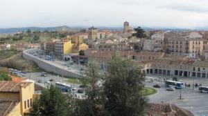 Vista lateral de Segovia