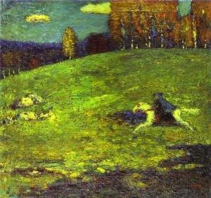Kandinsky, Der Blaue Reiter. 1944.