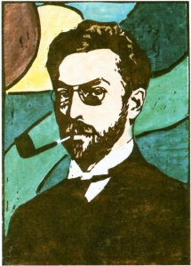 Autorretrato, W. Kandinsky