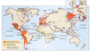 Mapa del Imperio de Felipe II