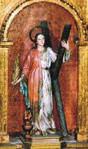 Santa Eularia de Barcelona en la Iglesia de Santa Eulària des Rius, Ibiza, Baleares.