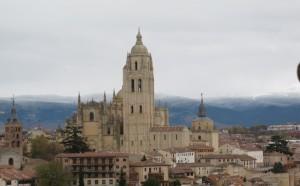 Vista de Segovia desde el Alcázar
