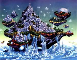 Themyscira como isla flotante