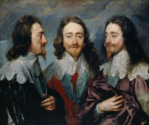 Anton van Dyck, Triple retrato de Carlos I. 1635.