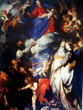 Anton van Dyck, Virgen del Rosario. 1623.