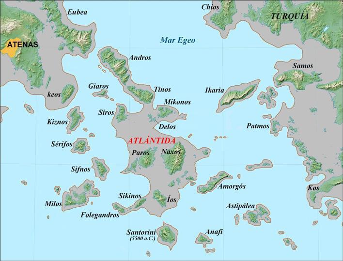 Atlántida en el Egeo