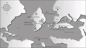 Atlántida similar a la isla de Groenlandia