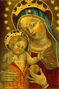 Catalina de Bolonia, Maria und das Jesuskind mit Frucht. c. 1440.