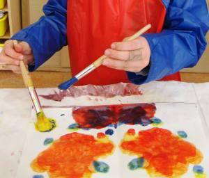 Clase de arte pre-escolar