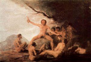 Francisco de Goya, Canibalismo. 1803.