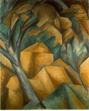 Georges Braque, Maisons à L'Estaque. 1908.