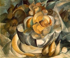 Georges Braque, Plate avec fruit. 1909.