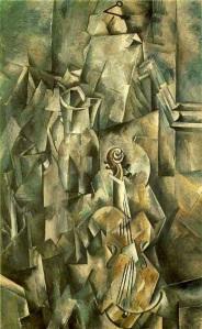 Georges Braque, Violín y jarra. 1910.