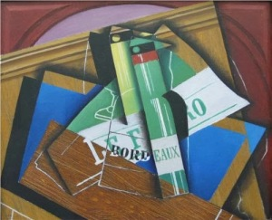 Juan Gris, Le bordeaux bottle. 1915.