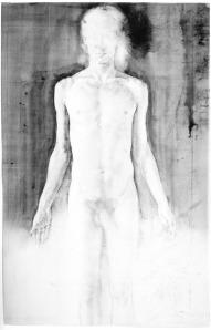 Julio Vaquero, Estudio de figura sobre espacio blanco (2004).