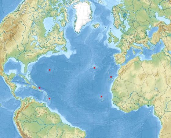Localizaciones en el Atlántico