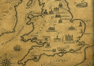 Mapa de Inglaterra y Gales