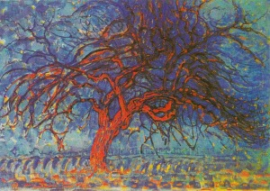 Piet Mondrian, Árbol rojo. 1911.
