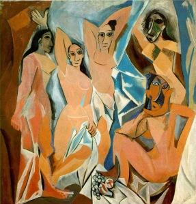 Pablo Picasso, Les Demoiselles D'Avignon. 1907.