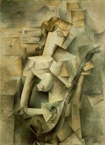 Pablo Picasso, Mujer con mandolina. 1910.