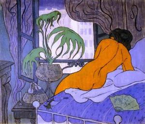 Paul Ranson, La chambre bleue. 1891.