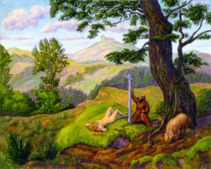 Paul Ranson, Saint Anthony and his pig. 1898.
