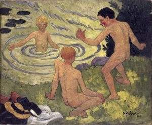Paul Sérusier, Enfants a la barque. 1906.
