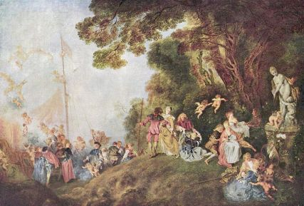Jean-Antoine Watteau, Peregrinación a Cythera. 1721.