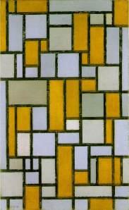 Piet Mondrian, Composición con gris y luz tostada. 1918.