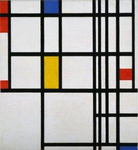 Piet Mondrian, Composición en rojo, azul y amarillo. 1937.