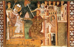 Sylvester I and Constantine (Edad Media)