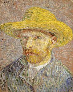Vincent van Gogh, Autorretrato con sombrero de paja, 1887.