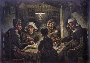 Vincent van Gogh, Los comedores de patatas. 1885.