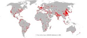 Ciudades del mundo con más de 1 millón de habitantes en 2006