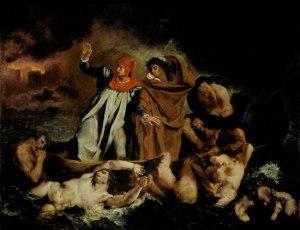 Eugène Delacroix, Dante y Virgilio en el los infiernos. 1822.