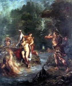 Eugène Delacroix, Diana y Acteón, Verano. 1862.