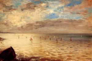 Eugène Delacroix, El Mar cerca de Dieppe. 1852.