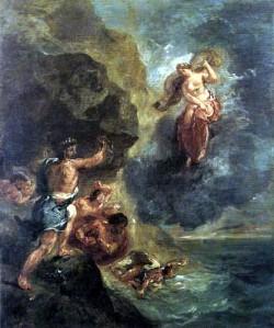 Eugène Delacroix, Juno y Eolo, Invierno. 1862.