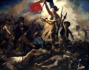 Eugène Delacroix, La liberté guidant le peuple. 1830.