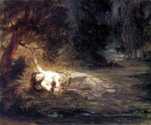 Eugène Delacroix, La muerte de Ofelia. 1838.
